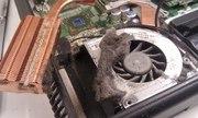 Чистка ноутбука компьютера от перегрева